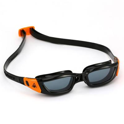 AQUA SPHERE KAMELEON Junior Dark Lens Black Frame with Orange Buckles at Phuket Dive Tours