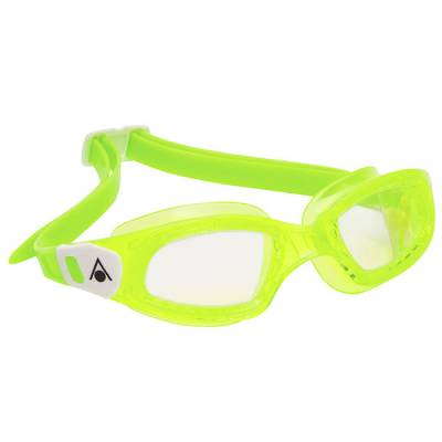 AQUA SPHERE KAMELEON Kids Clear Lens Lime Frame White Buckles - Phuket Dive Tours
