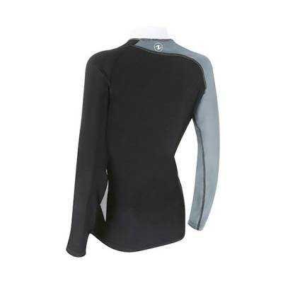 AQUALUNG Women Rash Guards - Black Ice - Back - Phuket Dive Tours