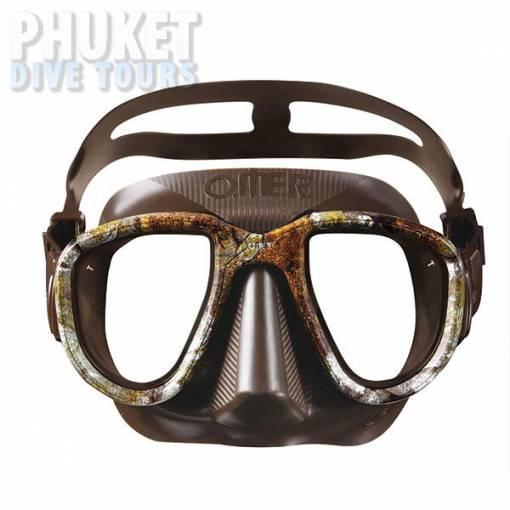 Alien camo brown scuba diving mask on sale at Phuket dive tours