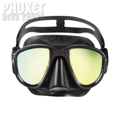 Alien camo mirror scuba diving mask