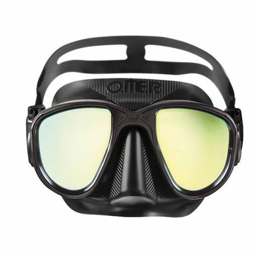 Otter Alien freediving mask mirrow tint lens