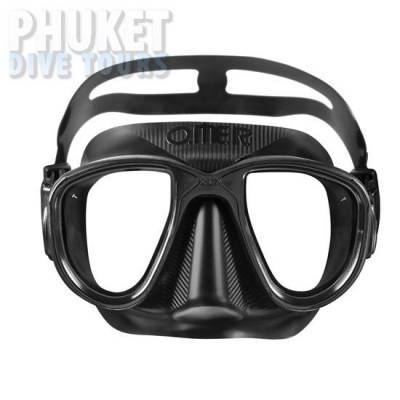 Alien otter Black scuba diving mask