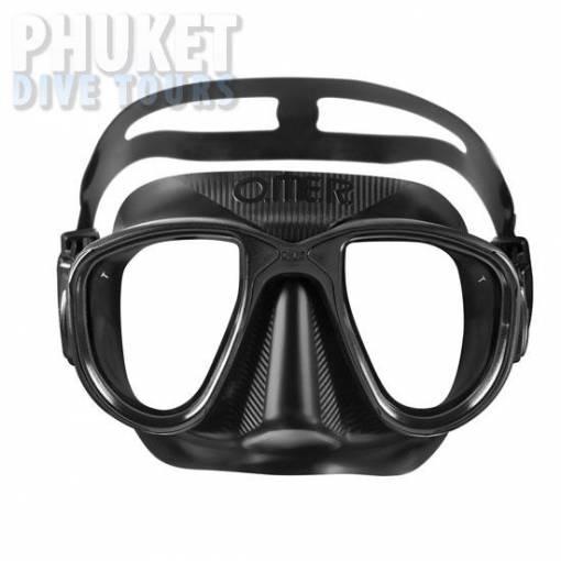 Alien otter Black scuba diving mask
