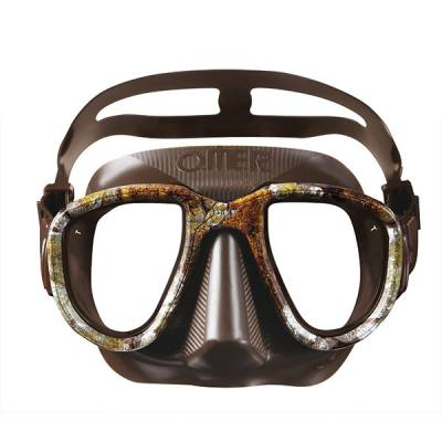 Otter Alien freediving mask brown camo