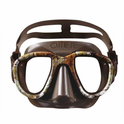 Otter Alien freediving mask brown camo