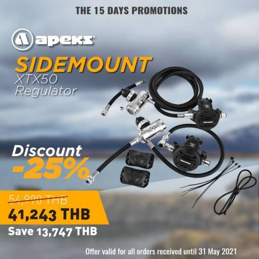 Apeks XTX 50 Scuba diving Regulator set Promotion-25% off Side mount set