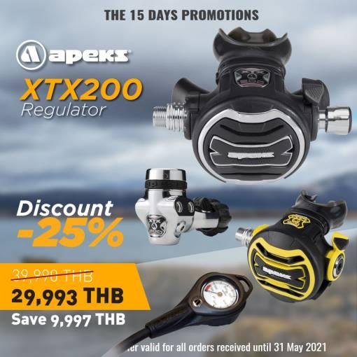 Apeks Scuba diving Regulator set Promotion-25% off Side mount XTX200