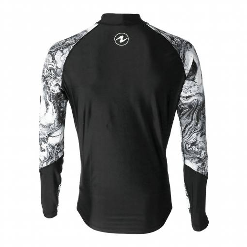 Aqualung Camo men rash guard long sleeve black white
