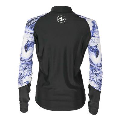 Aqualung Camo lady rash guard long sleeve purple black