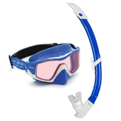 Versa diving mask and snorkel set Combo White blue