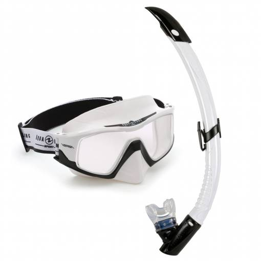 Versa diving mask and snorkel set Combo White black
