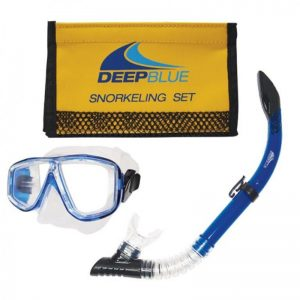 Deep Blue - Bora Mask & Snorkel set in Mesh Bag - DB2Bag