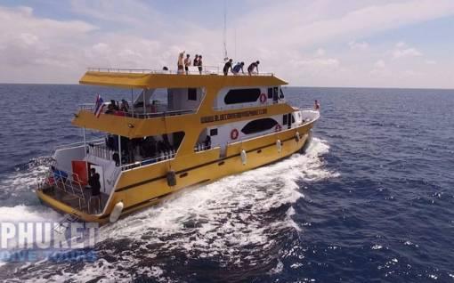Phuket Dive Tours Racha Noi Scuba diving boat Phuket