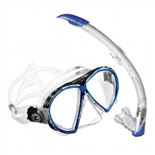Aqualung Favola Zephyr diving snorkeling combo mask and snorkel set Blue