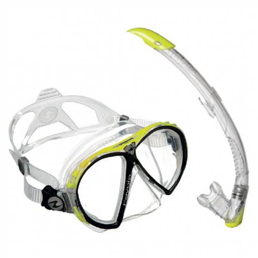 Aqualung Favola Zephyr diving snorkeling combo mask and snorkel set lime