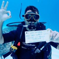 Newly qualified Padi open water diver