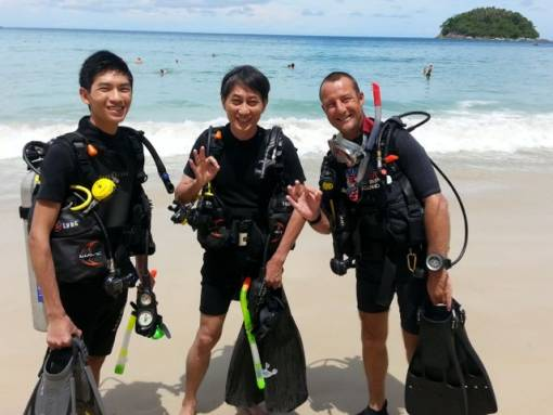 Kata Beach diving for certified licensed divers