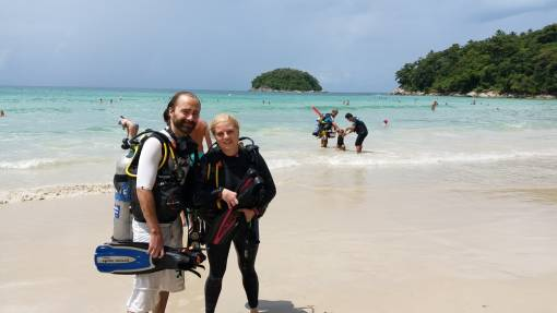 Half Day beach dive take a Refresher dive available with Private PADI Instructor