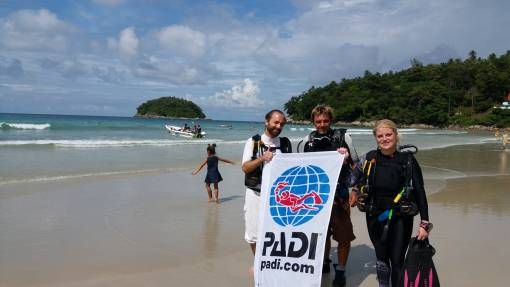 Kata beach diving started earlier this year in October due to great beach conditions