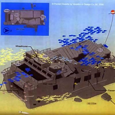 King cruiser wreck Phuket