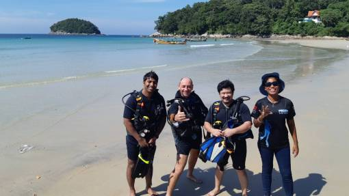 Learning to scuba dive at kata beach Phuket