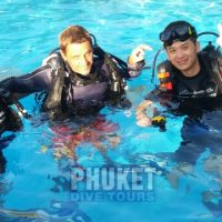 Learning to scuba dive forn the first time