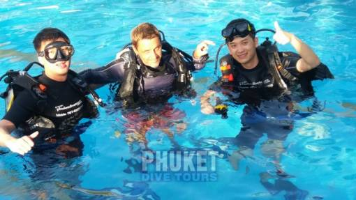 scuba diving forn the first time