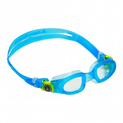 Moby kids swimming goggles blue lime