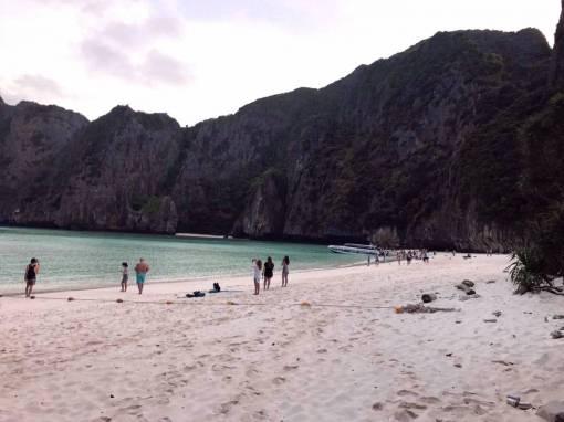 Maya bay Phi Phi Island the beach sunrise trip