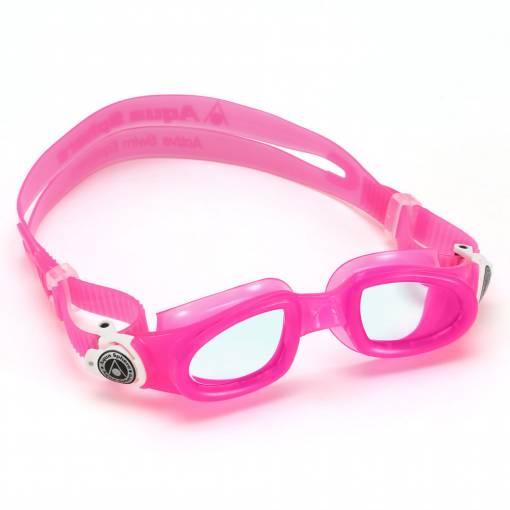 MobyKid kids swimming goggles blue pink white