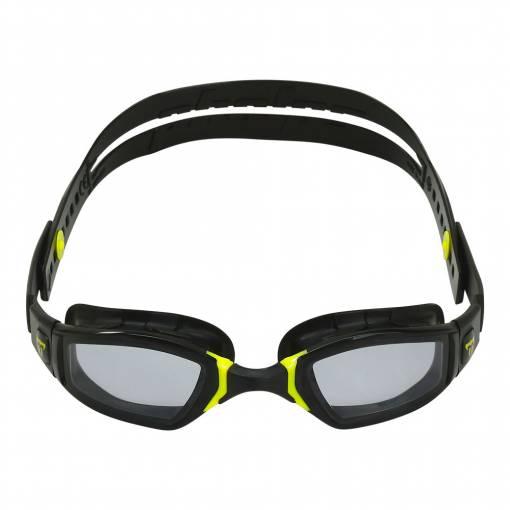 NINJA swimming goggles smoked lens black yellow frame