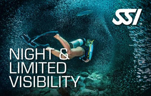 Night diving & Limited Visibility Free Online e learning course Phuket
