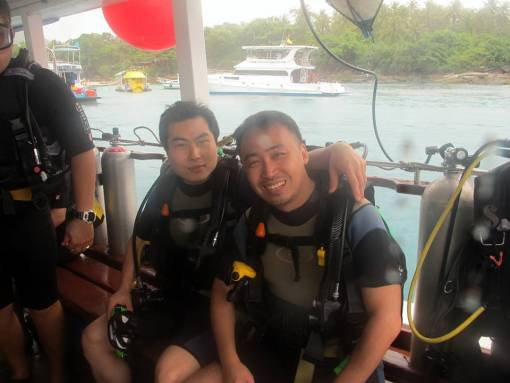 PADI Open Water Divers course boat dives with Phuket Dive Tours