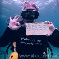 My Padi Course Phuket Open water diver