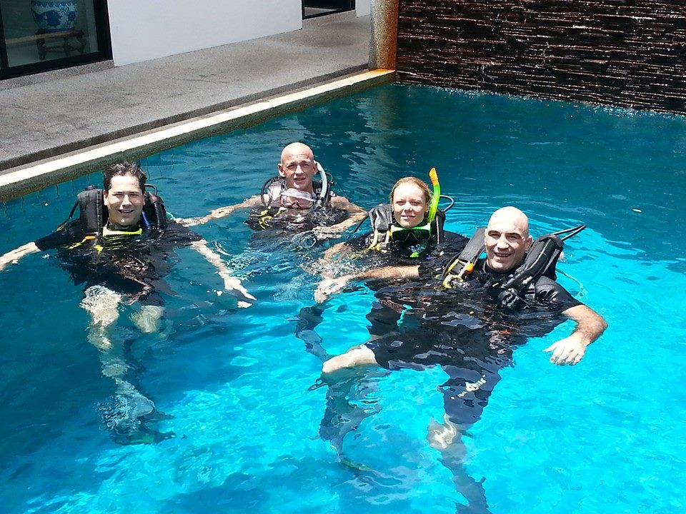 Padi Open water Course confined water exercises with Phuket Dive Tours
