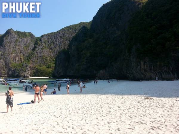 The Beach at Maya Bay Phi Phi island Tour - Phuket snorkeling day trips