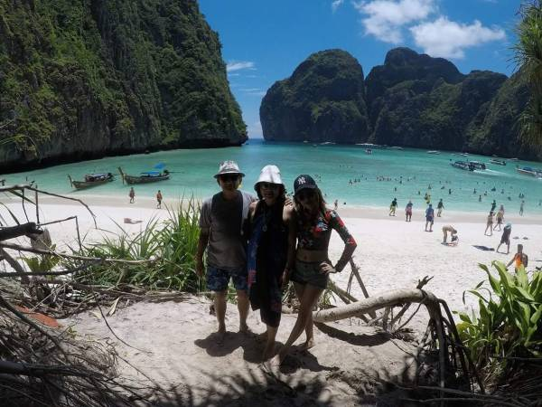 Phi Phi islands the beach