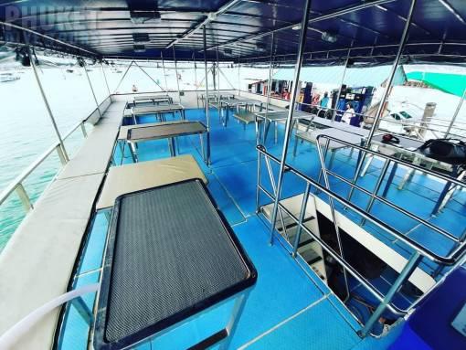Phi Phi scuba diving boat seating area