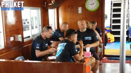 Phuket Dive Tours scuba diving at Racha Noi