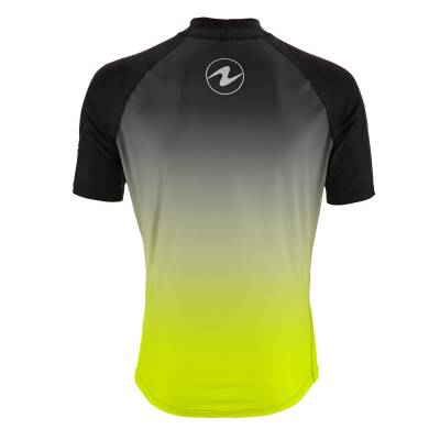 Aqualung rash guard radience lime short sleeve