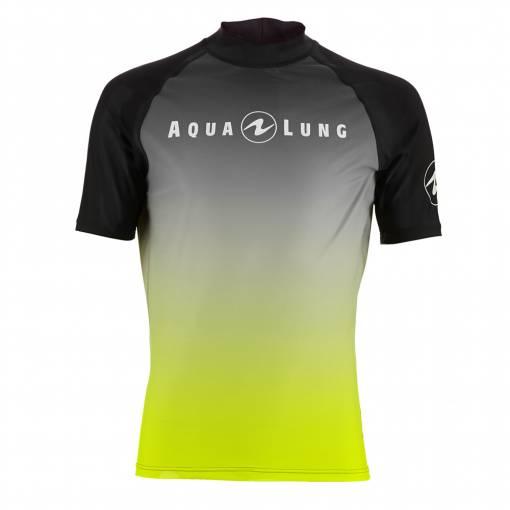 Aqualung rash guard radience lime short sleeve