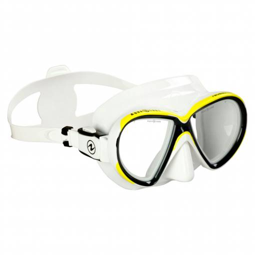 Aqualung Reveal X2 diving mask white yellow