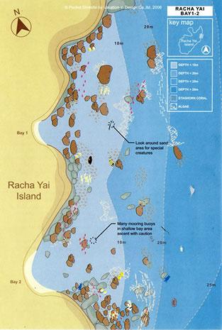 Racha Islands Scuba Diving Racha Yai-bay 1 & 2 dive site