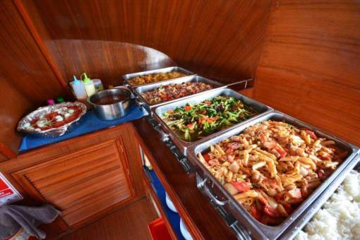 Lunch on the Racha Noi diving boat