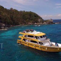 Racha Yai Scuba divingday trip boat