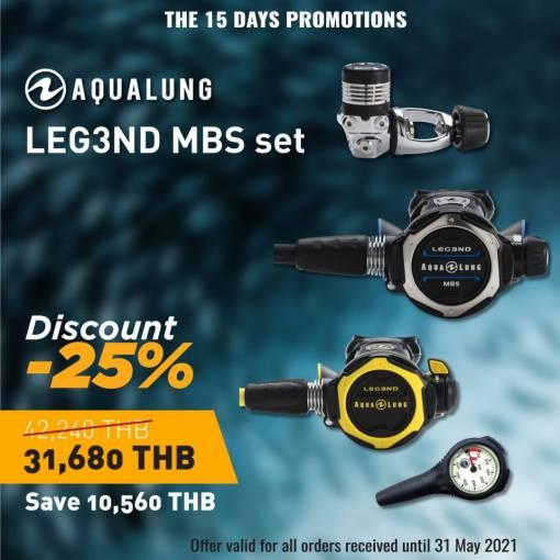 Aqualung regulator MBS regulator Elite set - 25 % discount sale
