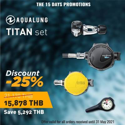 Aqualung Titan scuba regulator set - 25 % discount special offer