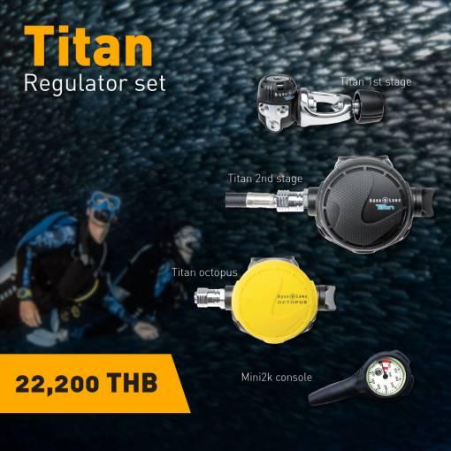 Aqualung Titan Scuba Regulator Set
