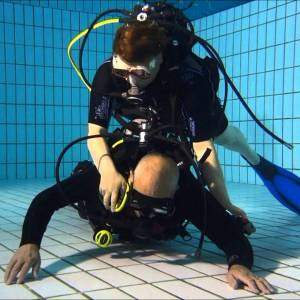 Rescue Diver exercises in confined water by Phuket Dive Tours